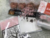 4F:桜模型材料いろいろあります