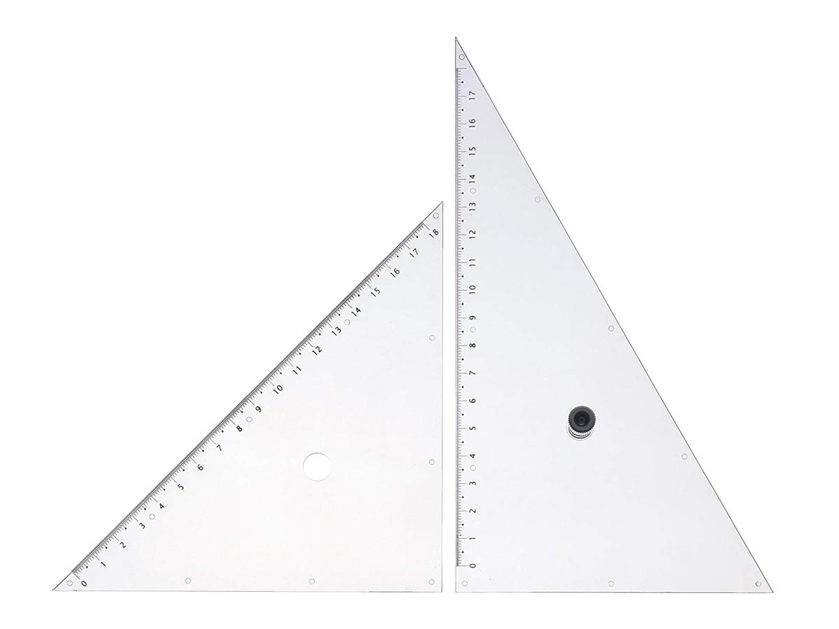 ウチダツマミ付三角定規